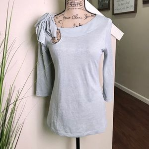 Deletta   Anthropology  top, silver shimmering